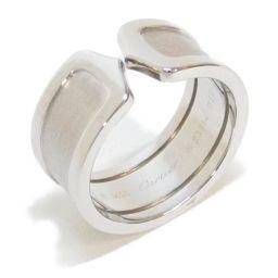 Cartier カルティエ C2 リング 指輪 シルバー K18WG(750) ホワイトゴールド 【中古】【ランク