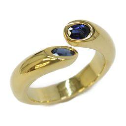 Cartier カルティエ エリプスドゥテット サファイア リング 指輪 ブルー × ゴールド K18YG(750