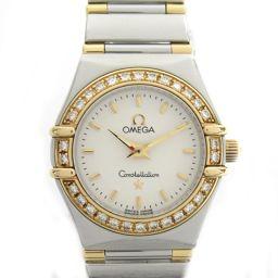 OMEGA オメガ コンステレーション ダイヤベゼル ウォッチ 腕時計 1367.30 シルバー K18YG(75