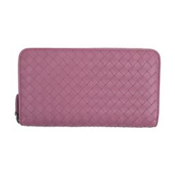 BOTTEGA VENETA Bottega Veneta Intrecciato Round Purse 275064 Pink Leather