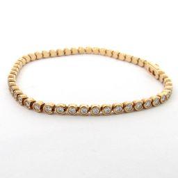 Cartier カルティエ ダイヤモンド C ドゥブレスレット クリアー K18PG(750) ピンクゴールド