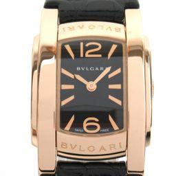 BVLGARI ブルガリ アショーマ ウォッチ 腕時計 AAP31G ブラック K18PG(750)ピンクゴールド