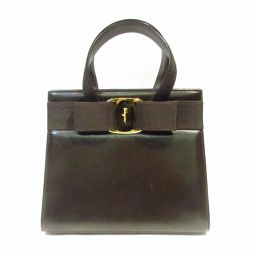 Salvatore Ferragamo Handbag Dark Brown Cowhide (Calf)