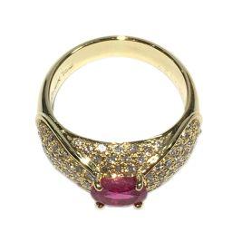JEWELRY ジュエリー ルビー ダイヤモンド リング 指輪 レッド  18K(イエローゴールド) x ルビー(
