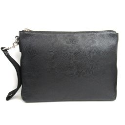 GUCCI Gucci Clutch Bag Second Bag 387075 Black Leather [Used] [Rank A] Lady
