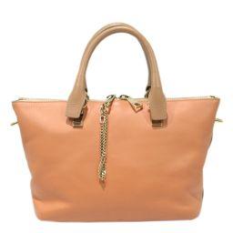 Chloe Chloe 2way Shoulder Bag Orange x Beige Leather [Used] [Rank B] Ladies