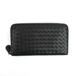 BOTTEGA VENETA Bottega Veneta Intrecherto round wallet black leather [pre] [La]
