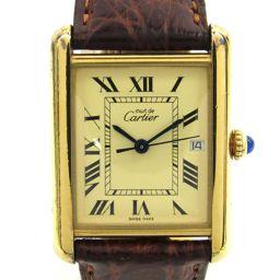 Cartier カルティエ マストタンク ウォッチ 腕時計 ゴールド SV x レザーベルト 【中古】【ランクA】