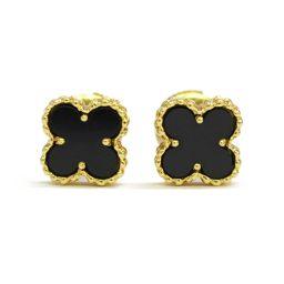 Van Cleef & Arpels Van Cleef & Arpel Sweet Alhambra Onyx Earrings Gold