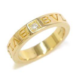 BVLGARI ブルガリ ダブルロゴ バンド リング 指輪 ゴールド K18PG(750) ピンクゴールド  ×