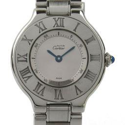 Cartier カルティエ マスト21 ウォッチ 腕時計 シルバー ステンレススチール(SS) 【中古】【ランクA