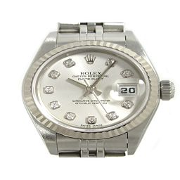 Rolex Datejust 10P Diamond Watch Watch Ladies 79174 Silver