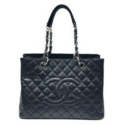 CHANEL Chanel GST Tote Bag Black x Silver Hardware Caviar Skin [Used] [Rank A]