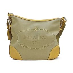 PRADA Prada Shoulder Bag BT0533 Beige Canvas [Used] [Rank B] Women