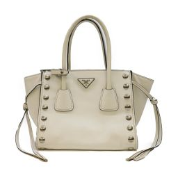 PRADA Prada 2way shoulder handbag B2625R ivory cowhide (calf) [used] [rank A