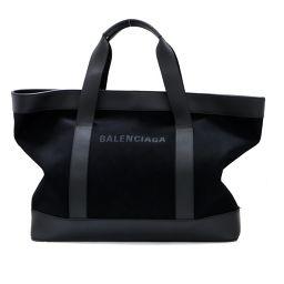 BALENCIAGA バレンシアガ トートバッグ ブラック キャンバス 【中古】【ランクA】 メンズ