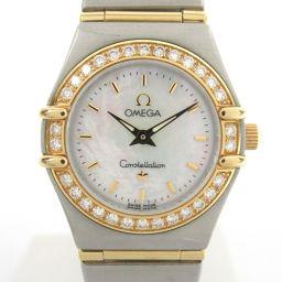 OMEGA オメガ コンステレーションミニ ダイヤベゼル ウォッチ 腕時計 1267.70 シルバー K18YG(