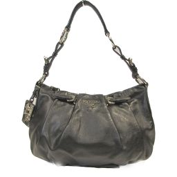 PRADA One shoulder bag black cowhide (calf) [Used] [Rank A] Ladies