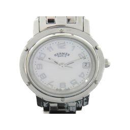 HERMES エルメス クリッパーナクレ ウォッチ 腕時計 CL4.210 シルバー ステンレススチール(SS)