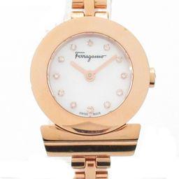 Salvatore Ferragamo サルヴァトーレ・フェラガモ  ガンチーニ 12Pダイヤモンド 時計 ウォッ