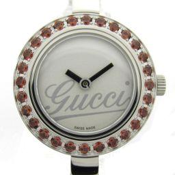 GUCCI グッチ Gクラス ガーネットベゼル ウォッチ 腕時計 105 シルバー ステンレススチール(SS) x