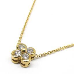 TIFFANY&CO ティファニー ダイヤモンド ネックレス クリアー K18YG(750) イエローゴールド