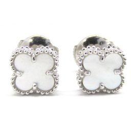 Van Cleef & Arpels Van Cleef & Arpel Sweet Alhambra Earrings Ivory K1