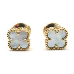 Van Cleef & Arpels Van Cleef & Arpels Sweet Alhambra Earrings White K18
