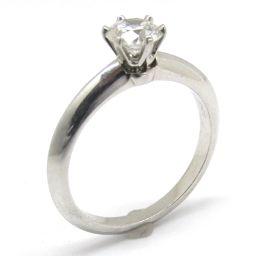 TIFFANY&CO ティファニー ソリティアダイヤ リング 指輪 クリアー PT950 プラチナ  x ダイヤモ