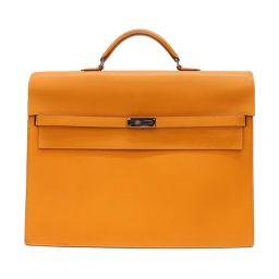 HERMES エルメス ケリーデペッシュ 38 マチ2 ビジネスバッグ ブリーフケース 書類かばん オレンジ系(金