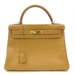 HERMES Hermes Kelly 32 handbag inner stitch natural (metal fittings: gold) Kushbell □ D stamp [