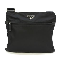 PRADA Prada Shoulder Bag Black Nylon [Pre] [Rank A] Men's / Women's