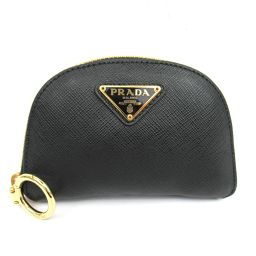 PRADA Prada Compact Pouch Black x Pink Leather x Nylon [Used] [Rank A] Ready