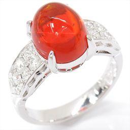 JEWELRY ジュエリー メキシコオパールリング 指輪 オレンジ PT900 プラチナ xメキシコオパール(2.