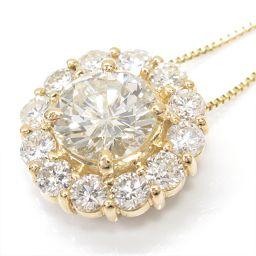 JEWELRY ジュエリー ダイヤモンドネックレス クリアー K18YG(750) イエローゴールド xダイヤモン