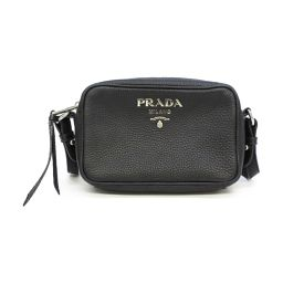 PRADA Prada Shoulder Bag Black Leather [Pre] [Rank A] Women
