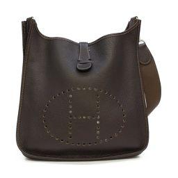HERMES Hermes Evelyn GM Shoulder Bag Brown (Metal: Silver) Togo □ C stamp [Used] [La