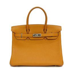 HERMES Hermes Birkin 30 Handbag Potiron Orange system (metal fittings: silver) Togo □ J stamp [