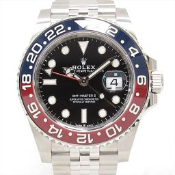 ROLEX Rolex GMT Master 2 Watch Watch 126710BLRO Black Stainless Steel (S