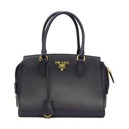 PRADA Prada 2way shoulder bag 1BA164 BALTICO Navy cowhide (calf) [Used]