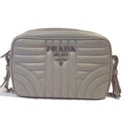 PRADA Prada Chain Shoulder Bag 1BH084 Gray Cowhide (calf) [Used] [Rank A] Lady