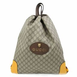 GUCCI Gucci GG Supreme Rucksack 473872 Brown Coated Canvas [Pre] [Run]