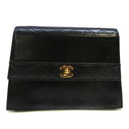 CHANEL Chanel Matrasse Chain Shoulder Bag Black (Hardware: Gold) Lambskin [Pre] [La]