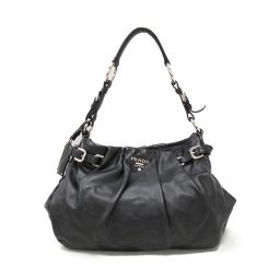 PRADA Prada One Shoulder Bag Black Leather [Pre] [Rank B] ​​Women