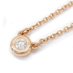 TIFFANY & CO Tiffany By The Yard Necklace Clear K18PG (750) Pink Gold x Die