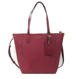MICHAEL KORS Michael Kors embossed leather 2way tote bag Red embossed leather [Used] [Run]