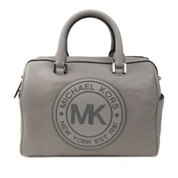 MICHAEL KORS Michael Kors Logo 2way Handbag Pearl Gray Leather [Used] [Rank A]