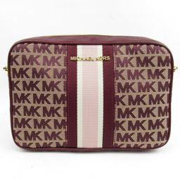MICHAEL KORS Michael Kors Shoulder Bag Bordeaux Canvas [Like New] Ladies