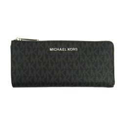 MICHAEL KORS Michael Kors logo L-type ZIP long wallet 35F8STVZ3B black coating carrier