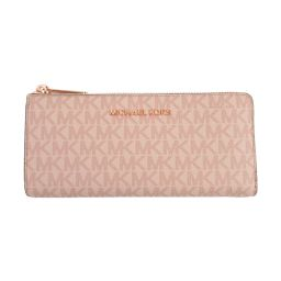 MICHAEL KORS Michael Kors logo L-type ZIP long wallet 35F9RTVZ3B pink coating can